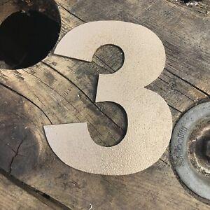 """3 5"""" Rustique En Métal Doré Numéro Lettre Maison Signe Lettrage Mot Boho Intérieur-afficher Le Titre D'origine Gagner Les éLoges Des Clients"""