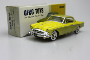 Amarillo-gfcc-Juguetes-1-43-1955-Studebaker-Speedster-Coupe-Aleacion-Coche-Modelo-Sports