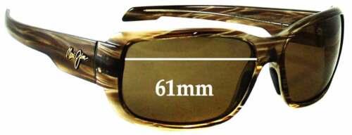 61 mm large Effets spéciaux de remplacement Lunettes De Soleil Lentilles Pour Maui Jim MJ226 Hamoa Beach