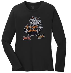 58421e36 Women's Cleveland Browns Elf Ladies Bling Long Sleeve T-Shirt S-4XL ...
