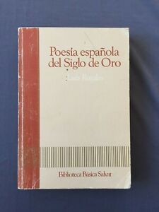POES-A-ESPANOLA-DEL-SIGLO-DE-ORO-Luis-Rosales-POESIA