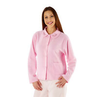 Ladies Button Through Fleece Bed Jacket/Gown Size 12,14,16,18,20,22,24,26