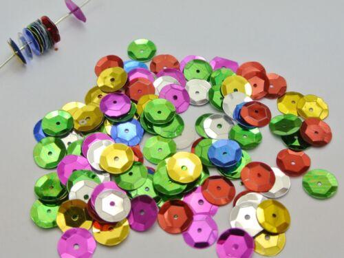 2000 Mixte color 10 mm Cup Round Loose Paillettes Paillettes De Couture Mariage Artisanat