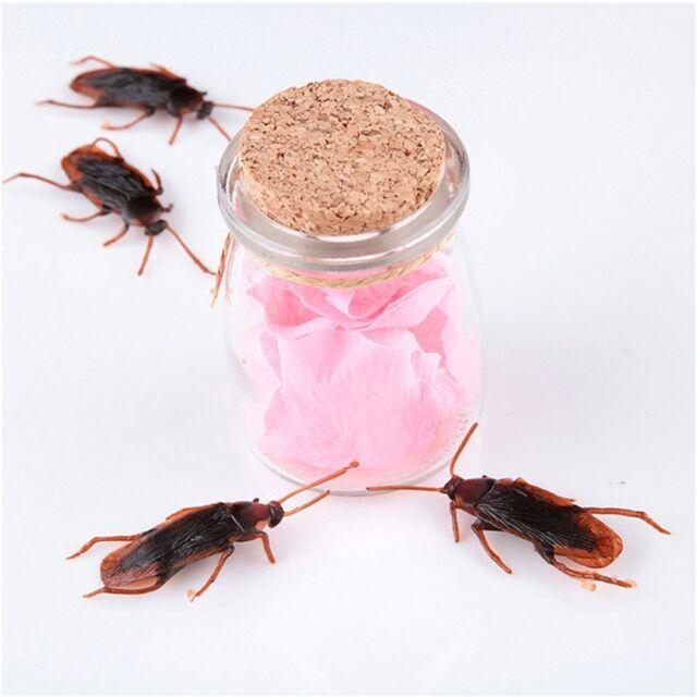 Amusing Prank Joke Fake Roaches Cockroach Shape Toy Lifelike Blackbeetle