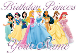 Disney Princesses Birthday Personalised T Shirt Ideal Gift Present
