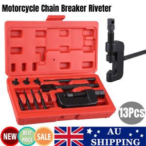 12x Motorcycle Chain Splitter Cutter Riveting Tool Link Breaker Remover Riveter