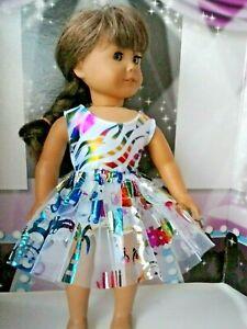Animal-Print-Leotard-amp-Tutu-18-inch-Doll-Clothes-fits-American-Girl-Dolls