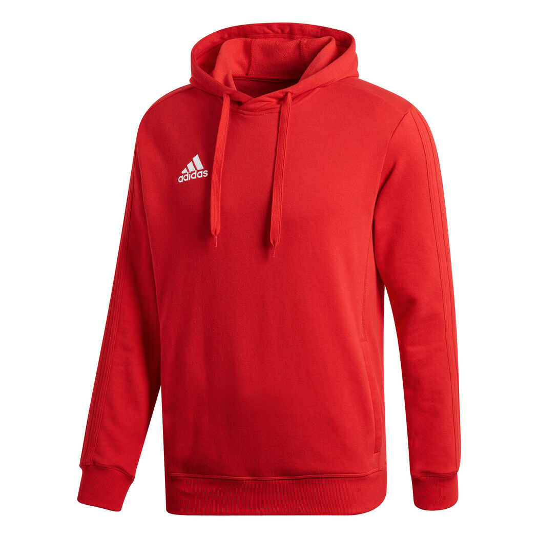 Adidas Tiro 17 Hoody Sweatshirt mit Kapuze Baumwollmischgewebe rot