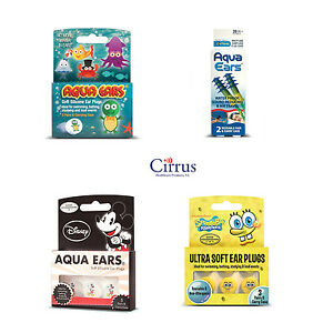Aqua Ears Ear Plugs  for Swimming Bath Work -Cirrus Healthcare Earplugs