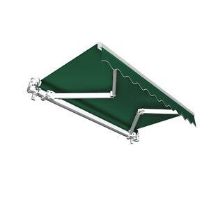 Markise-Sonnenschutz-Gelenkarmmarkise-Handkurbel-350x300cm-Gruen-Uni-B-Ware