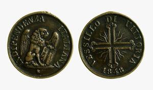 pcc2135-39-Medaglia-Vessillo-di-Vittoria-1848-Venezia-mm-29-rara