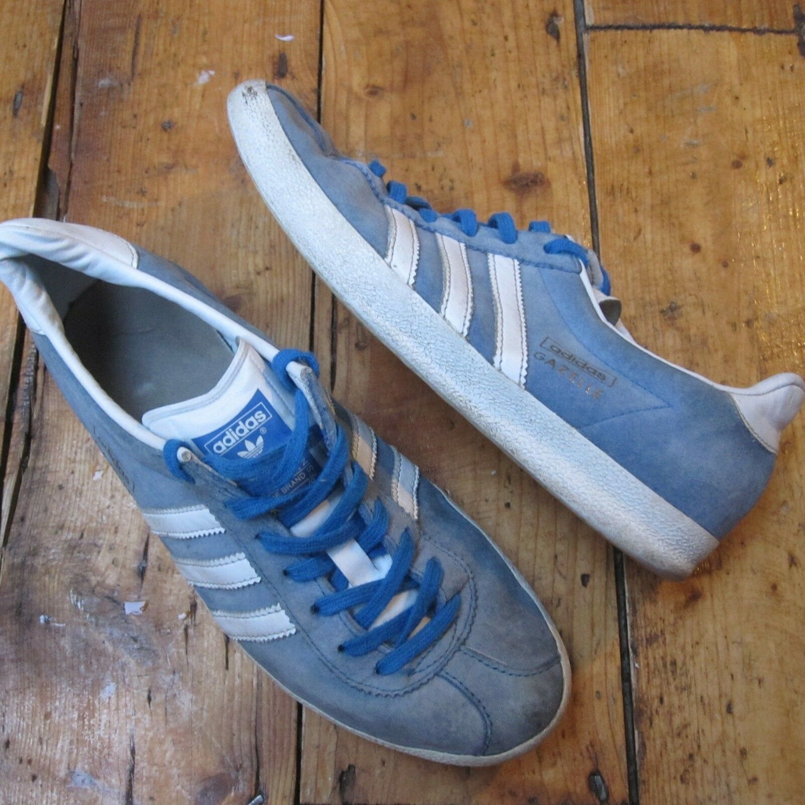 Adidas Originals Gazelle Trainers Size Suede Light Blue Men's UK Size Trainers 4 4a1d91