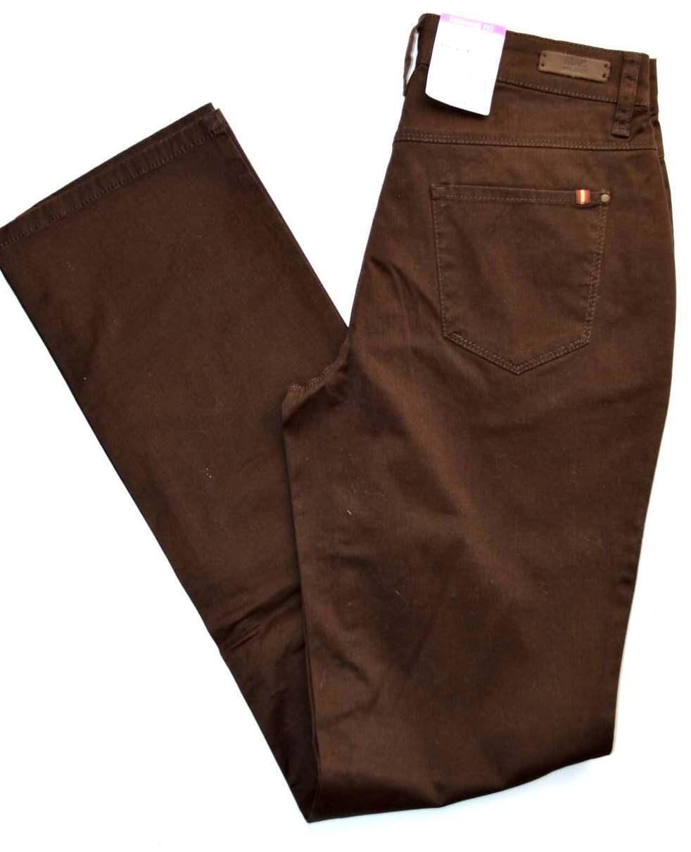 MAC Jeans MELANIE TAPE Stretch brown straight fit Gr.36 L 34 NEU