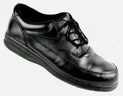 dr scholls dyna walker black leather lace up casual