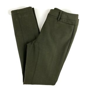 Worth-New-York-Trouser-Dress-Pants-Work-Career-Professional-Size-6-Olive-Green