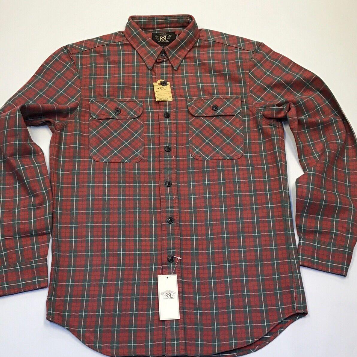 RRL By Ralph Lauren PLAID Twill MATLOCK Camicia di lavoro