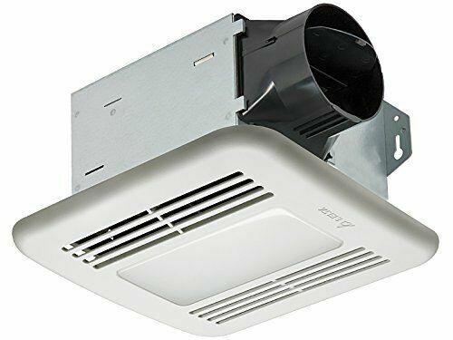 Exhaust Bath Fan Flushmount Dimmable LED LIght 50 CFM Bathroom Toilet Ceiling for sale online