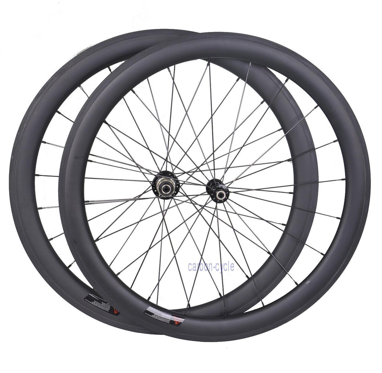 25 amplia rueda de 50mm Carbono Remachador Novatec Delantero Trasero Llanta 700C unidireccional Mate Bicicleta De Carretera