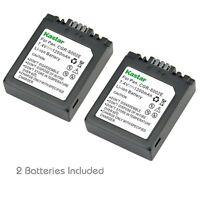 2x Kastar Battery For Panasonic Lumix S002 Dmc-fz5 Dmc-fz10 Dmc-fz15 Dmc-fz20