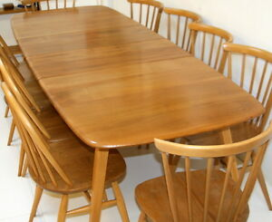Ercol-Grand-Windsor-Table-Solid-Elm-Wood-1960s-Fully-Restored-Condition