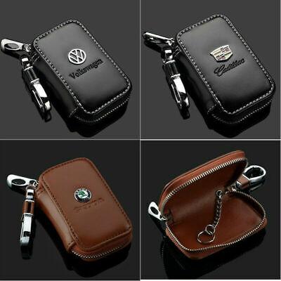 General Leather Car Key Chain Ring Keychain Case Holder Zip Bag Keys Purse Pouch