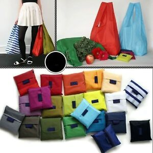 a3d9b4518a8 Image is loading Eco-Waterproof-Grocery-Compact-Folding-Reusable-Shopping- Bags-