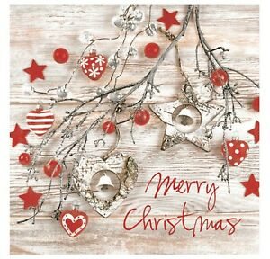 Christmas-Napkins-for-Decoupage-Paper-Craft-Serviettes-FinWood-33x33cm-3PLY-x-20