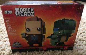 234 pcs Jurassic World Lego SEALED 41614 Brick Headz Owen /& Blue Velociraptor