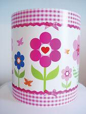 Mädchen Babys Kinderzimmer Gingham Blumenmuster Blumenmuster Licht Lampen Schirm