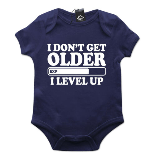 Don/'t Get Older I Level Up Gamers Gaming Babygrow Gift Baby Grow Newborn 513