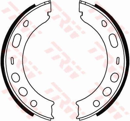 PORSCHE CAYMAN 987 2.9 Handbrake Shoes Set 09 to 12 MA1.20 Hand Brake Parking