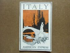 Brochure , guide touristique   ITALIE  ITALY AMERICAN  EXPRESS   saison 1929-30
