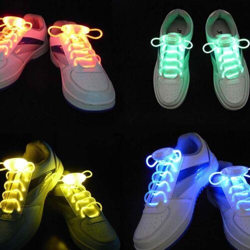 New LED Luminous Light Up Glow Strap Shoelace Shoe Laces Party Disco-Props
