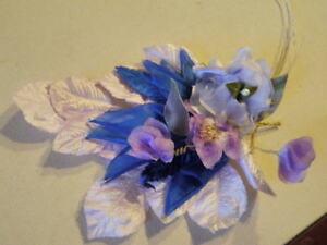 """Vintage Millinery Flower Collection 1-2"""" Violet Blue Japan H1814"""