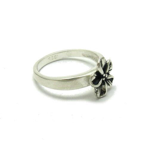 STERLING SILVER RING SOLID 925 FLOWER R001619 EMPRESS