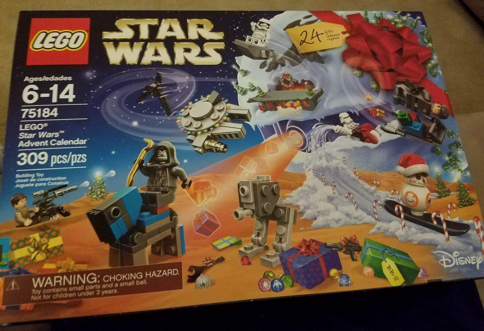 NEW  LEGO Star Wars Advent Calendar - 75184, 309 PIECES,CHRISTMAS 2017, SEALED