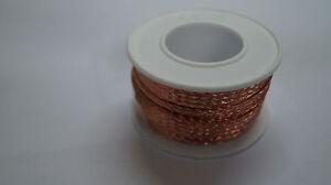 2-Meter-ca-10-x-1-2-mm-Kupferband-Batterie-Masseband-Motor-Kabel-Massekabel