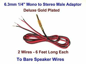 6 3mm 1 4 male mono y adaptor stereo speaker wires receiver Volume Pedal Wiring image is loading 6 3mm 1 4 male mono y adaptor