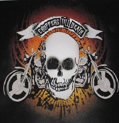 New Skull Choppers Till Death Motorcycle Bike SOFT Fleece Throw Gift Blanket NIP