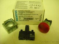 Siemens Round Red Led Indicator Light, 110v, 3zx1012-0sb30-1aa1