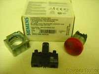 Siemens Round Red Led Indicator Light, 110v, 3zx1012-0sb30-1aa1