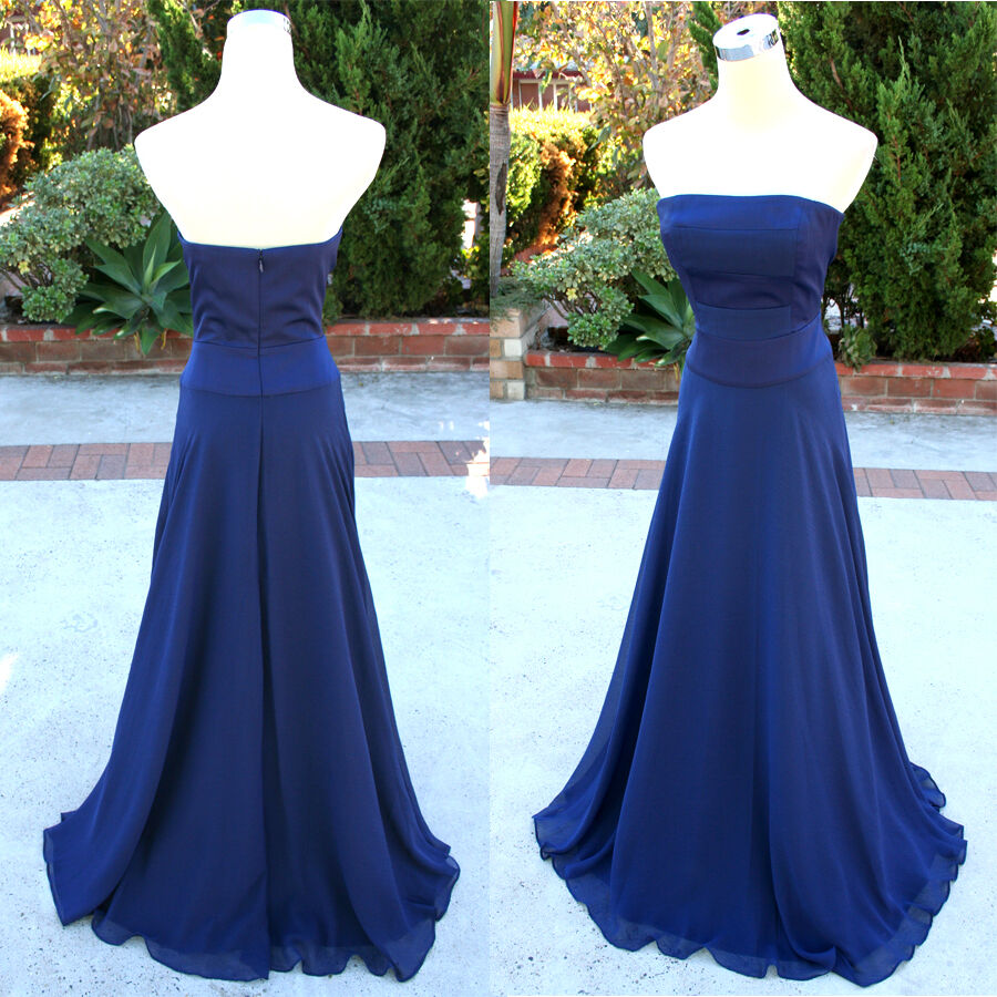 NWT Max and Cleo  218 MARINER blueE Party Prom Gown 4