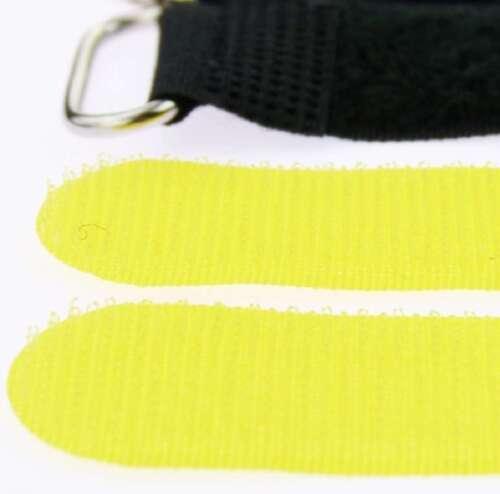 40 x Klettband Kabelbinder 30 cm x 25 mm gelb Klettbänder Kabelklett Metallöse