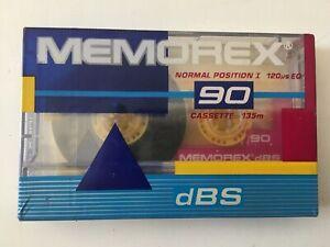 MEMOREX dBS I 90 NORMAL POSITION TYPE I BLANK AUDIO CASSETTE 1987