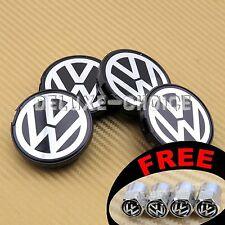 """SET OF 4 CAR ALLOY WHEEL RIM CENTER LOGO CAP HUB 55mm / 2 ⅙"""" VW US SELLER"""