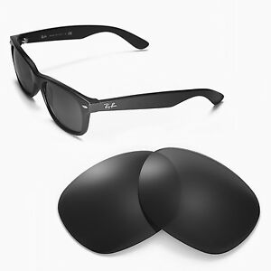 d42de4ed50 WL Polarized Black Replacement Lenses For Ray-Ban Wayfarer 2132 55mm ...