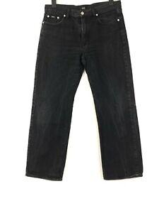 HUGO BOSS Homme Pantalon Jeans Confort Ajustement Régulier 34/30 W34 L30 Noir