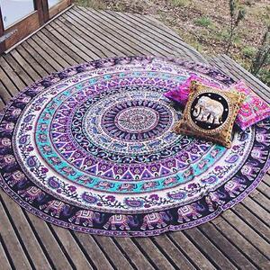 Image Is Loading Hippie Indian Mandala Round Roun Beach Towel Throw