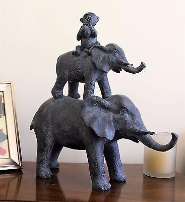 Elephant Monkey Home Furnishings Ornament Outdoor Indoor