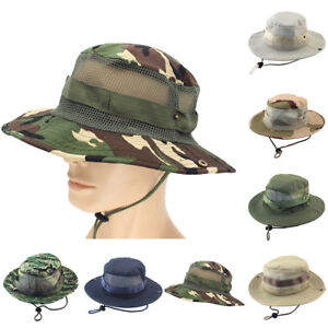 8655fad19d3 EG  Tactical Boonie Hat Military Camo Bucket Wide Brim Sun Fishing ...